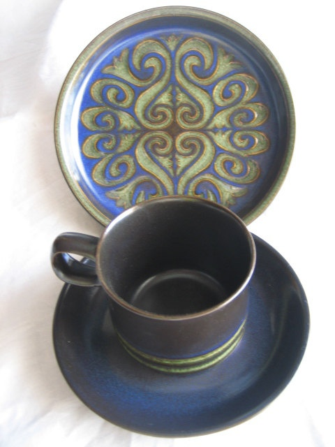 Vintage 1970's-1980's Tea and Snack Set Denby China Made in England