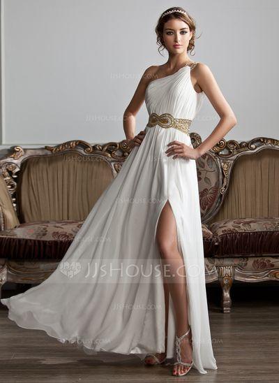 A-Line/Princess One-Shoulder Floor-Length Chiffon  With Ruffle Beading Sequins Split Front (018020706) http://jjshouse.com/A-Line-Princess-One-Shoulder-Floor-Length-Chiffon-Prom-Dress-With-Ruffle-Beading-Sequins-Split-Front-018020706-g20706?gver=WkEGk&ves=vnlx6&ver=n1ug2t
