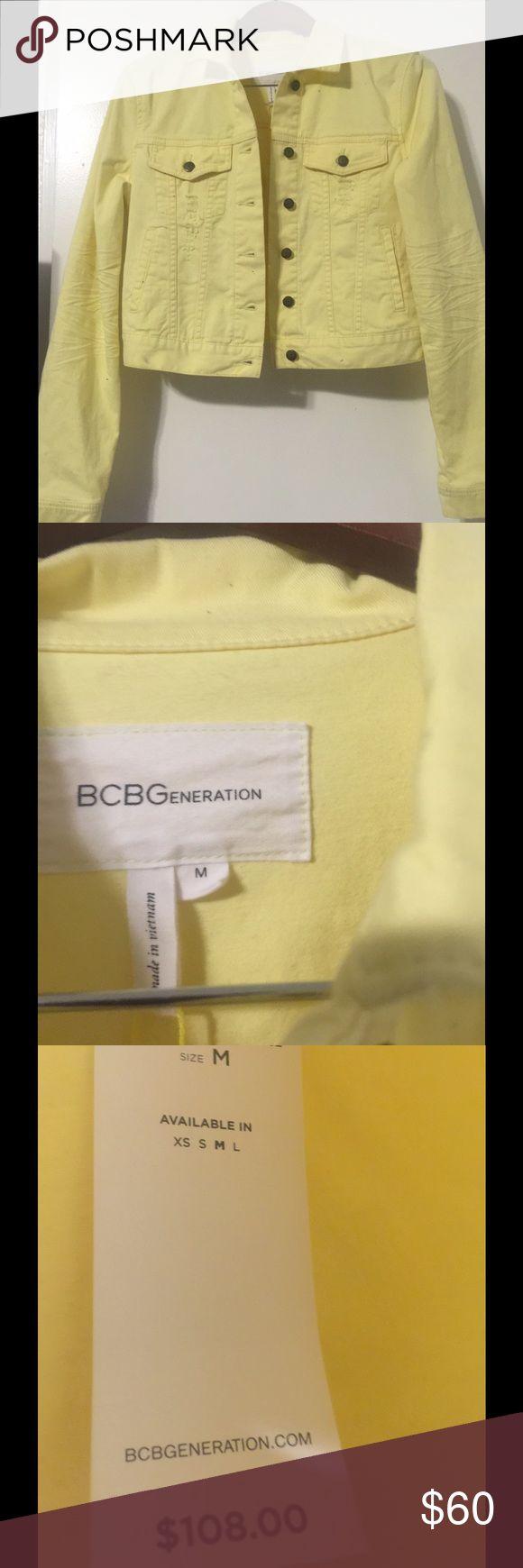 Yellow jacket Yellow bcbg jacket with a little mark on sleeve BCBGeneration Jackets & Coats Jean Jackets