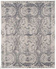 Pottery Barn Bosworth Printed Wool Rug ~ 8 x 10' ~ Gray ~ New With
