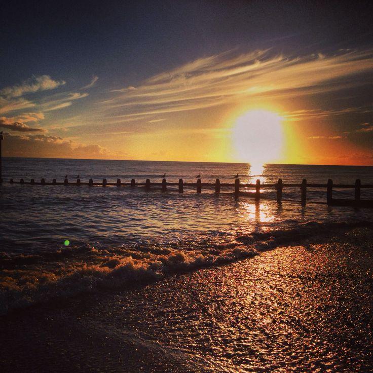 Sunset Rustington Beach West Sussex