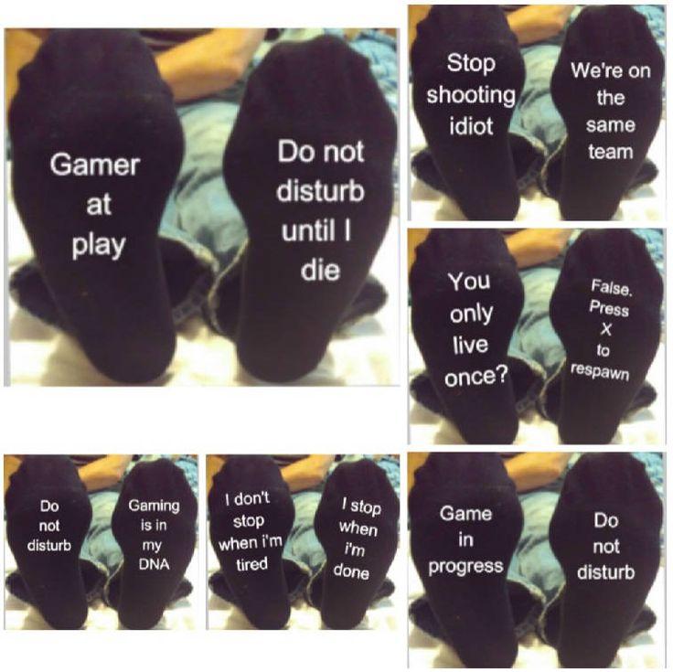 Gamer novelty socks, comp, You CAN CUSTOM THESE, Christmas gift, stocking filler, funny socks, xmas gift for him, son gift, computer gamer by DragonflyPersDesigns on Etsy