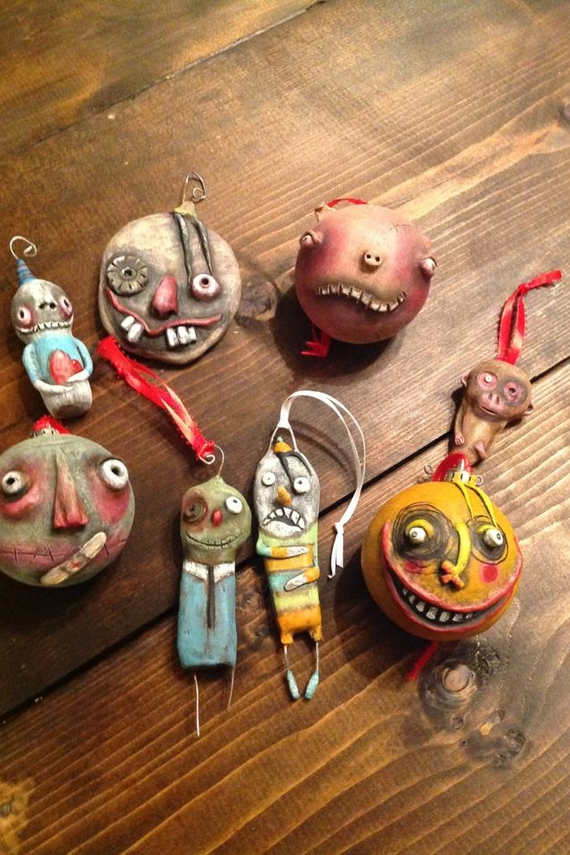 Clay christmas ornaments for the not so conventional tree