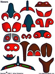 Totem pole noses -- links to a site with all the pieces and shapes to create unique totem poles