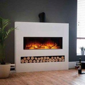 Flamerite Gotham 900 Frameless Floor Standing Electric Fire Suite