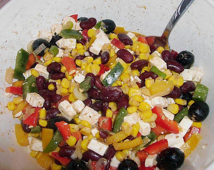Rote Bohnen - Schafskäse - Salat 2