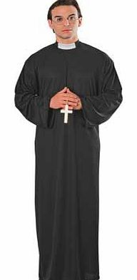 Rubies Fancy Dress Priest Costume - One Size Enjoy playing prim and proper in this sacred looking costume. great for getting conversation going at fancy dress parties. Includes: robe with clerical collar. 100% polyester. One size fits most. Spon http://www.comparestoreprices.co.uk/fancy-dress-costumes/rubies-fancy-dress-priest-costume--one-size.asp