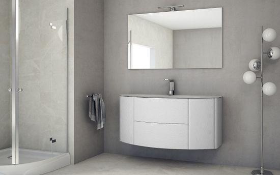 Mobile bagno edelweiss cm o lavabo cristallo sospeso con