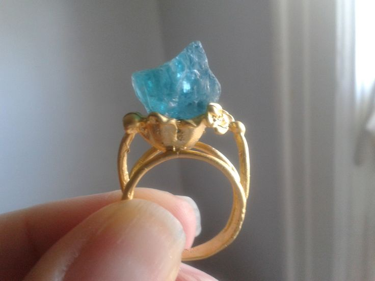 Outstanding Paraiba Apatite Matte Gold Ring by mesolady64 on Etsy https://www.etsy.com/listing/228757348/outstanding-paraiba-apatite-matte-gold