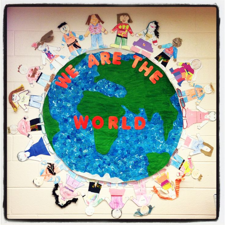 Multicultural: We Are The World- Multicultural/earth Day Activity