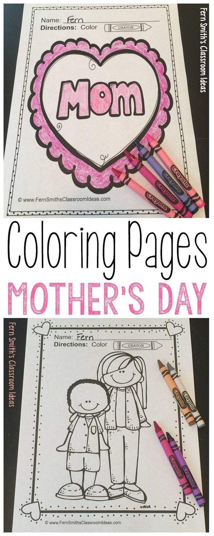 Your students' mothers, aunts, grandmothers and special adult friends will adore these 39 pages of Mother's Day Fun Coloring Pages. This Mother's Day Activity Coloring Book is perfect to bind together to make a terrific workbook, coloring book, or writing journal to make for MOM during your center rotation time during the busy end of the year chaos! Students can draw in a background, they can write about their mothers. A wonderful creative writing Mother's Day activity…