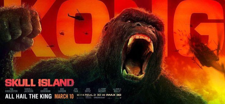 """Kong Skull Island Hi-Res Movie Poster Banner 27"""" x 60"""" Kong Fangs"""