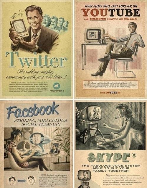 facebook, twitter, skype, youtube