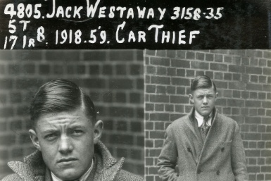 mug shot exhibition from the 1930s, Victorian police museam