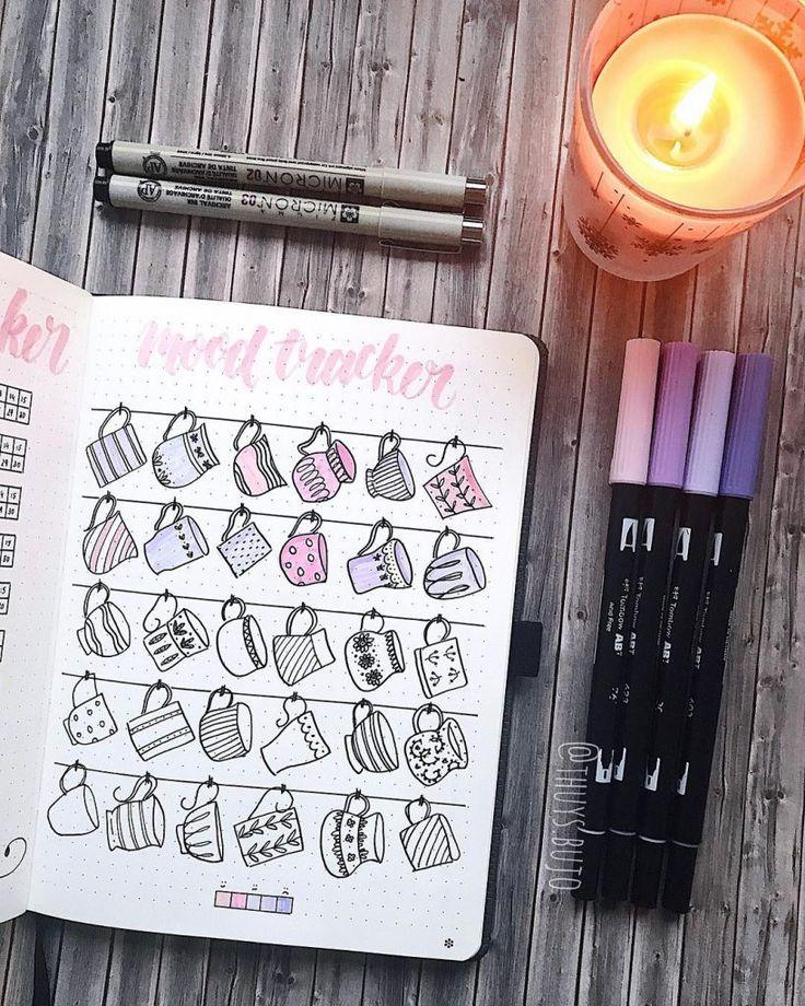 52 Bullet Journal Temper Tracker Concepts Quantity 2
