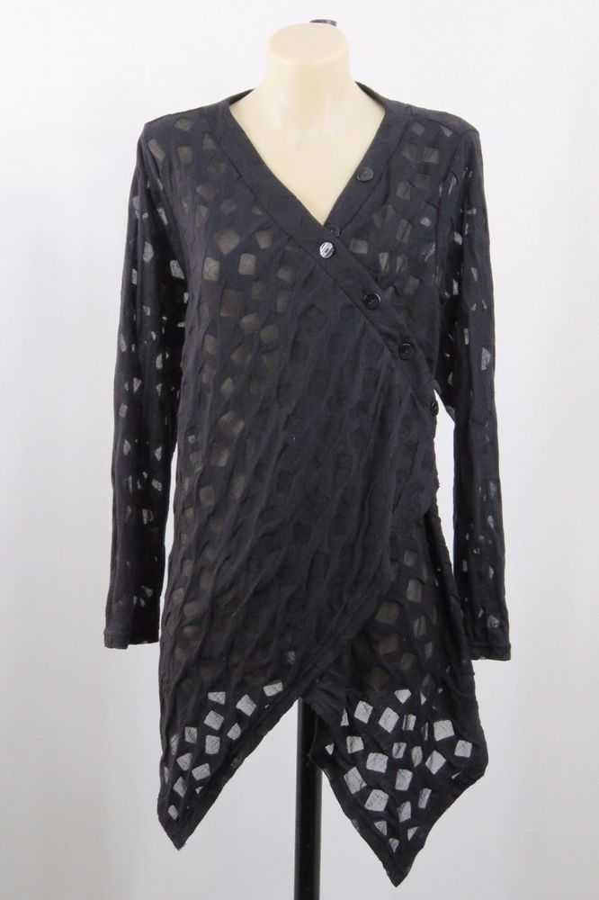 SIZE L 14 Taking Shape Ladies Black Tunic Top Gothic Layer Casual Office Style #TakingShape #Tunic #Casual