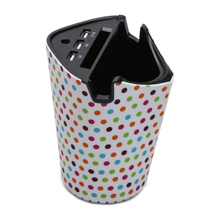Violife In-Car Charging Station - Polka-Dot - Hollar | So. Much. Good. Stuff