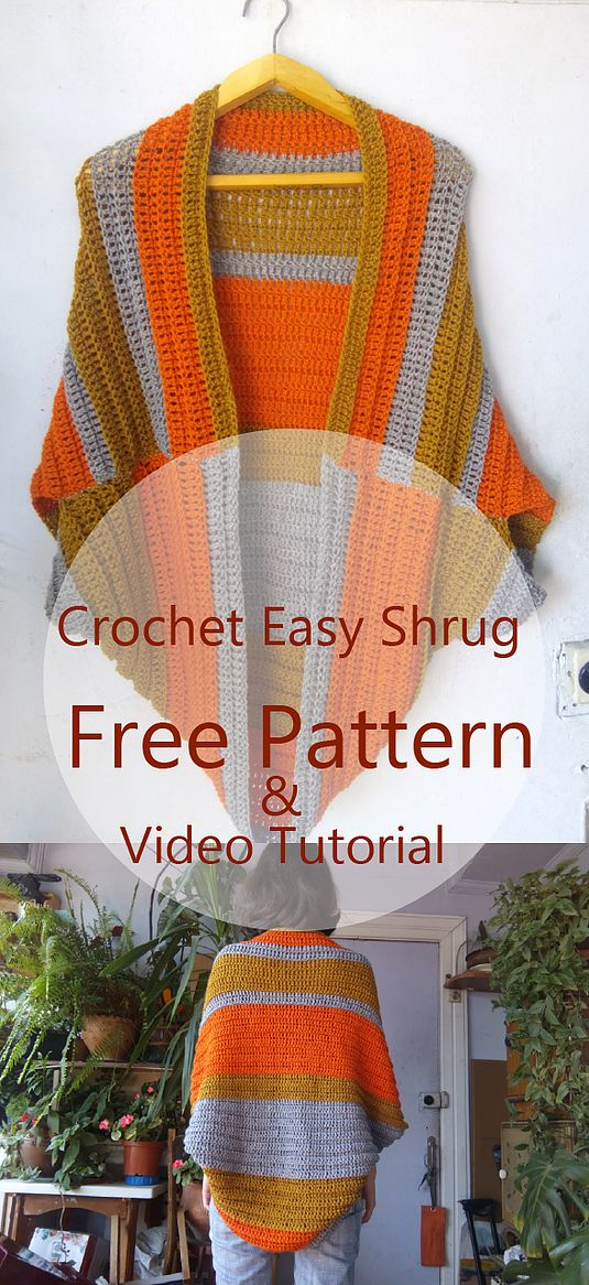 Crochet Easy Shrug | Turtle Whicky Crochet | Home