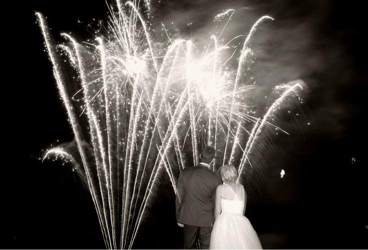 big fireworks wedding  by: Tied Photo & Films  #bluemountainwedding #ontariowedding #fireworks