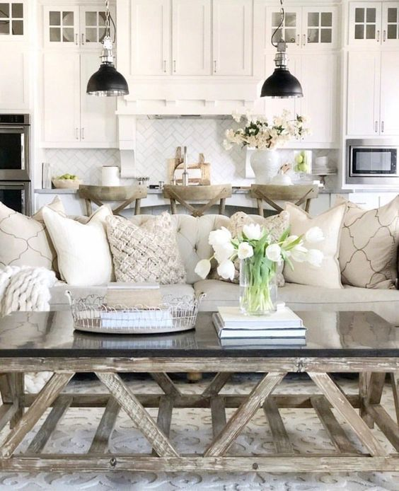 Budget Living Room Modern Farmhouse: 45 Amazing Modern Farmhouse Living Room Design Ideas