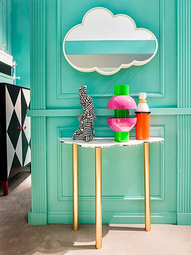 #nuvola mirror and console table, #design Garilab by Piter Perbellini for #altreforme A Moveable Feast #stand @iSaloni 2014 #paris #anni20 #roaringtwenties #designweek #interior #home #decor #homedecor #furniture with #woweffect #aluminium