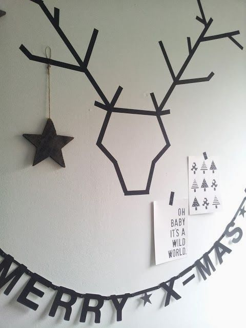 x4duros.com: DIY Navidad: Dibujar ciervos con washi tape