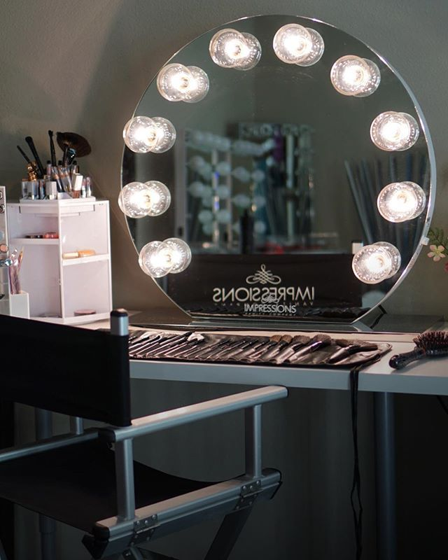 Lighted Vanity Mirror Impressions : Impressions Vanity Lighted Hollywood Vanity Mirrors Make up station Pinterest Hollywood ...