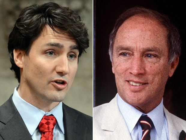 Justin Trudeau and Pierre Trudeau: There are both similarities and profound differences between father and son.