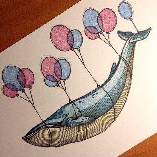 Картинки по запросу нарисованный кит