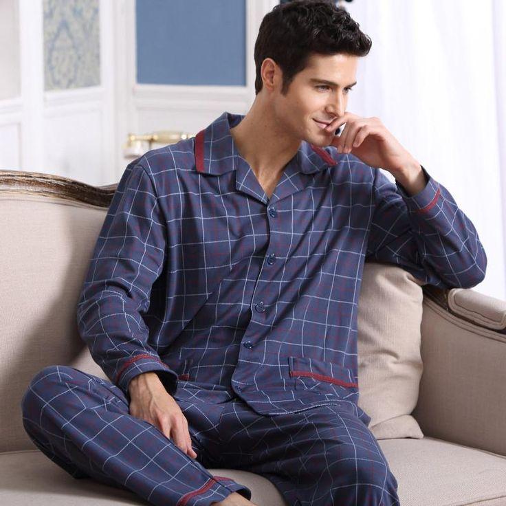Men's Pajamas Spring Autumn Long Sleeve Sleepwear   Cotton – Bereal.co