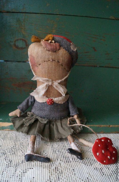 Купить Мухоморка - разноцветный, мухомор, примитивная кукла, авторская ручная работа, таня бурсюк