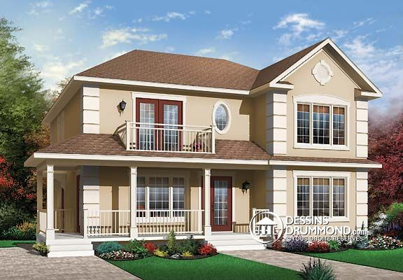 Duplex de style europ en no 3031 de dessins drummond for Multi family house designs