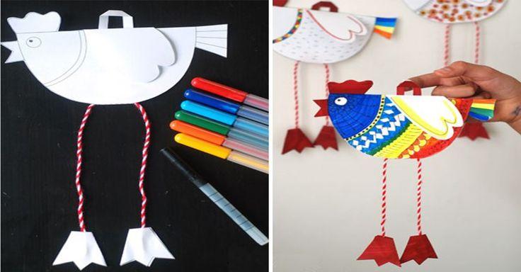 Inspirace na kreativní tvoření s dětmi – slepičky z papíru