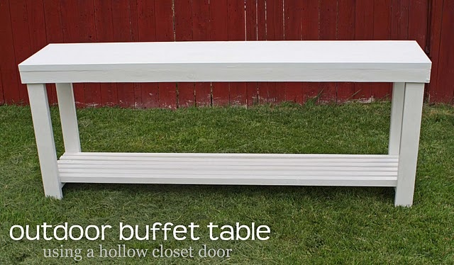 Outdoor Console Table - lovely for the back porch (someday deck)