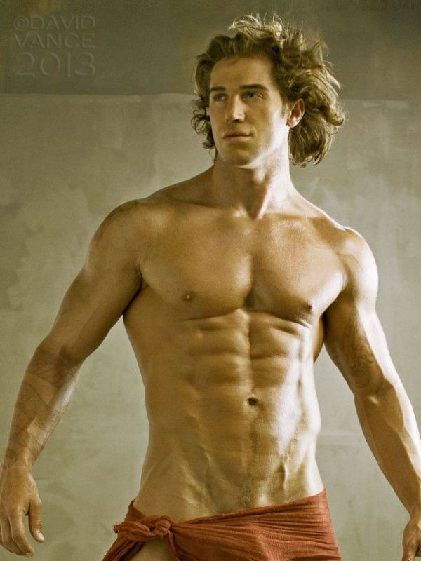 how to build a body like a male model