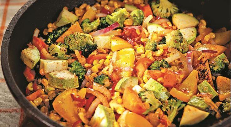 Жареные овощи с чили