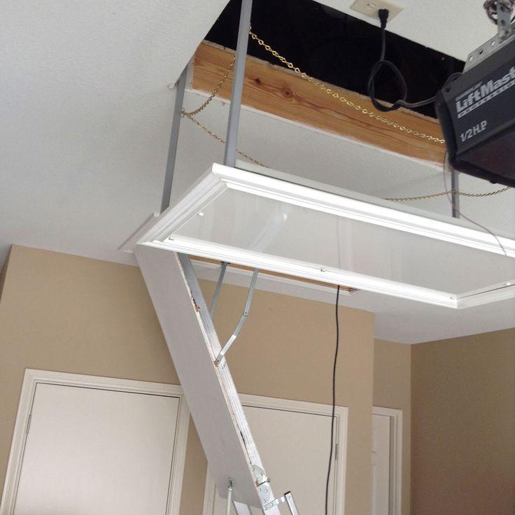 12 best versa lift attic system images on pinterest for Garage attic storage