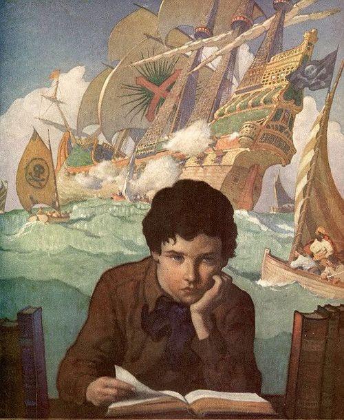 Гостевой пост Маленького Миу для Блоги Мам   Иллюстраторы мира о любви к чтению   Ньюэлл Конверс Уайет