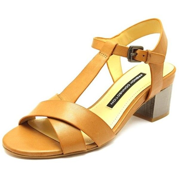 French Connection French Connection Lia Women Open Toe Leather Sandals... ($26) ❤ liked on Polyvore featuring shoes, sandals, khaki, open toe sandals, leather upper shoes, open toe shoes, high heel shoes and open toe leather sandals