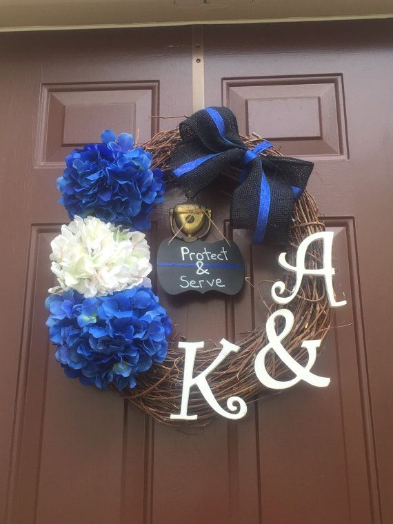 127 best police wreaths images on pinterest