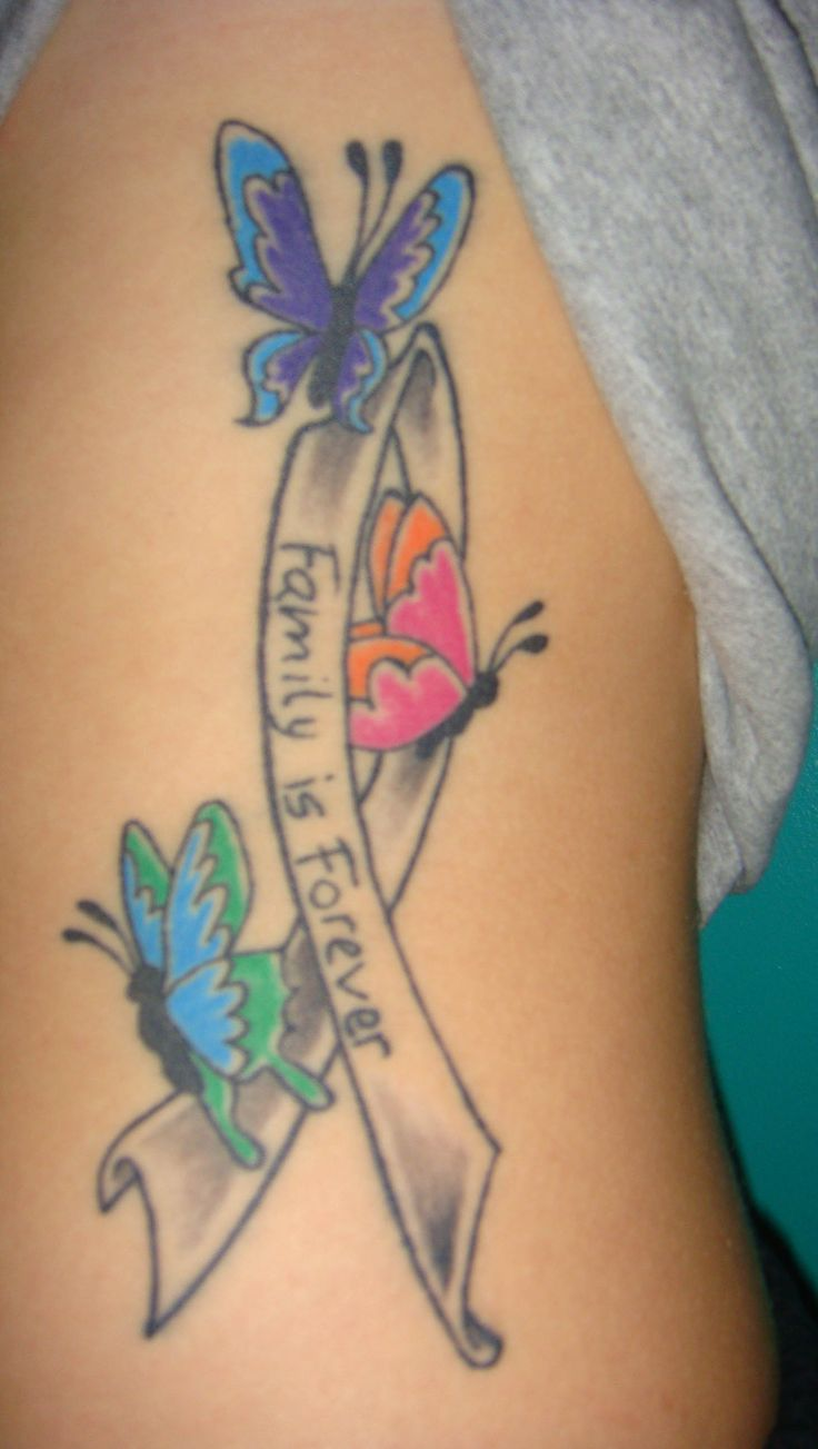 lavender cancer ribbon tattoo - photo #22