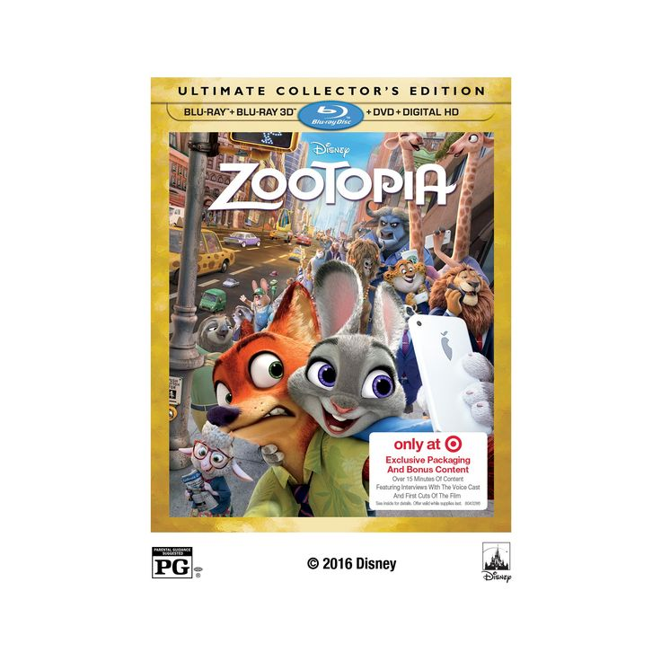 Zootopia 3D Target Exclusive (Blu-ray/Dvd + digital HD)