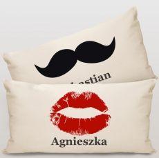 Komplet poduszek personalizowanych PAN I PANI idealny na urodziny