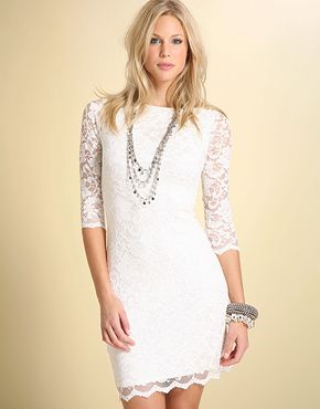 Super cute!! Could use it for a simple wedding dress with awesome shoes and hair in an up-do. ♥