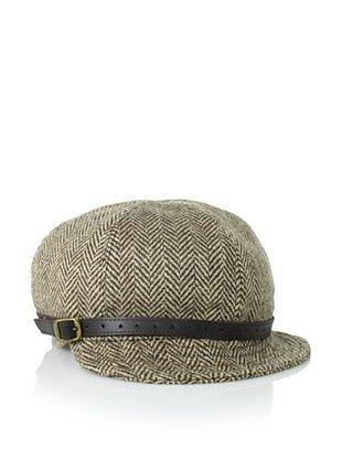 Christy's Women's Mia Herringbone Jockey Hat, Brown