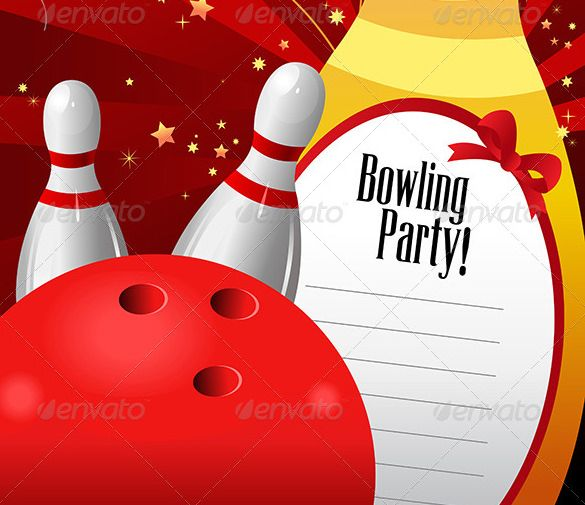 7 best Bowling party images on Pinterest Anniversary parties - bowling flyer template free