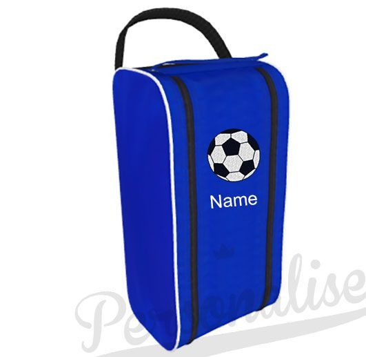 This Personalised Boot bag comes embroidered with the FOOTBALL design and a NAME Perfect for childrens football boots and named so your child with