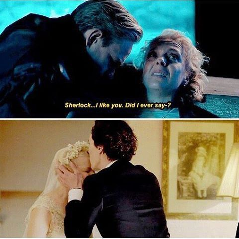I think the thing that was most painful about Mary's death was Sherlock's reaction--he is so obviously trying not to cry, something that never would have happened in season 1. Because now he's accepted that he has friends, people he cares about and who care about him, and now he's losing one of them and can't do anything about it.