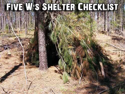 Shtf Shelter: Five W's Shelter Checklist