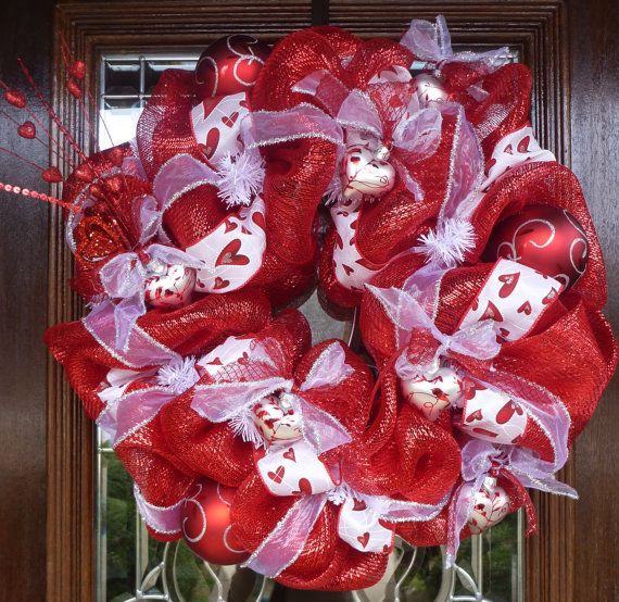 #Valentine's #wreath
